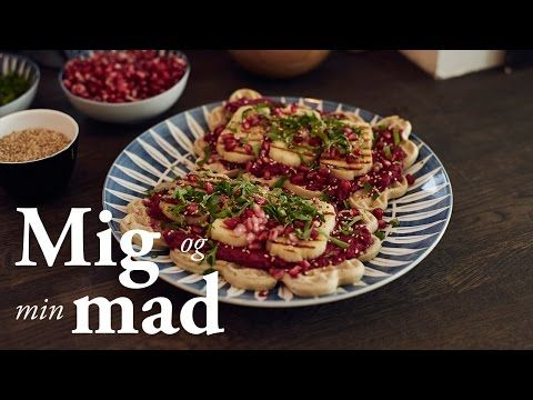 Madvafler m. rødbedehummus og grillost