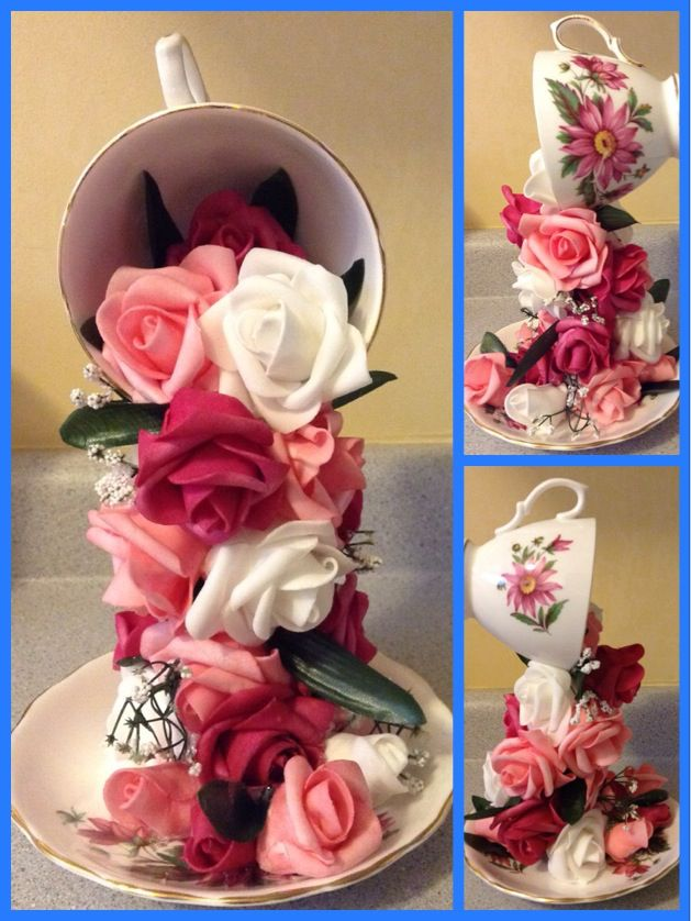 Floating Teacups and Roses