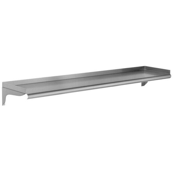 Eagle Group Ws1048 16 3 16 Gauge Stainless Steel 10 X 48 Wall Mounted Shelf In 2020 Wall Mounted Shelves Eagle Group Steel Wall