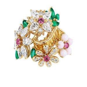 「ディオール」ヴェルサイユ宮殿の庭園が着想のハイジュエリー、瑞々しい草花をダイヤモンドやエメラルドで - 画像31