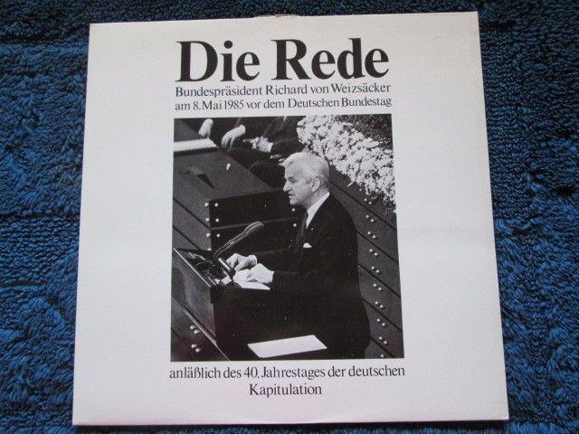 RICHARD VON WEIZSÄCKER Rede im Deutschen Bundestag 8.5.1985 Schallplatte (9290)
