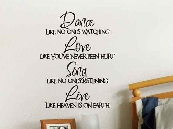 Wall Quote Decal Dance Like No One Is Watching Childs Bedroom Wall Decor