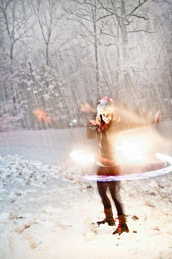 Hooping in the snow is not quite as great as hooping in the sun. Bye Alli McCracken