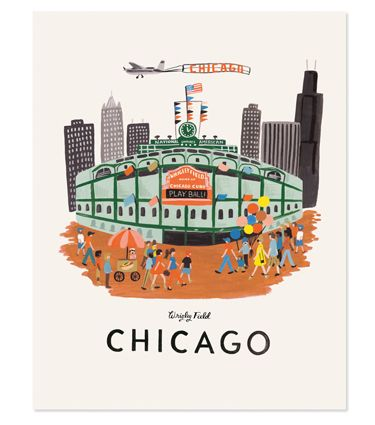 """Rifle Paper Co """"Chicago"""" Print- perfect artwork for indoctrinating little ones."""