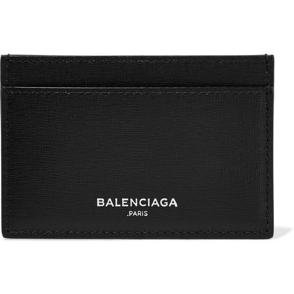 Balenciaga Textured-leather cardholder (7,730 PHP) ❤ liked on Polyvore featuring bags, wallets, wallet, balenciaga, balenciaga bag, pocket bag, balenciaga wallet and logo bags