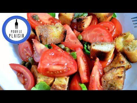 Toskanischer Brotsalat -  Panzanella / einfach lecker! - YouTube