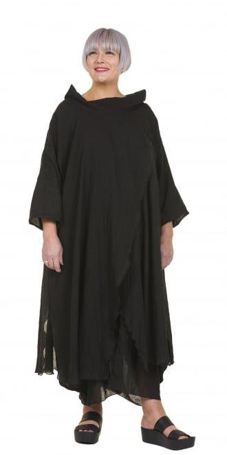 Yiannis Karitsiotis Striking Black Crossover Dress