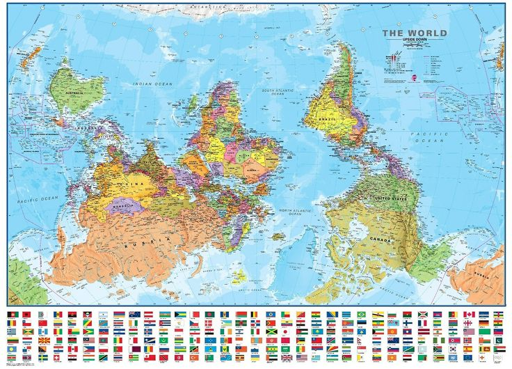 #The World (Upside-Down) Map