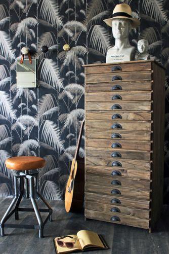 17 Drawer Wooden Cabinet
