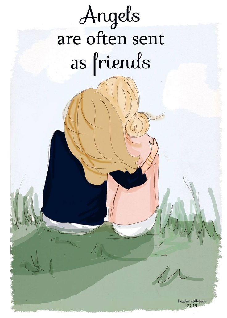 Angels Are Often Sent as Friends - Friendship Art - Art for Friends