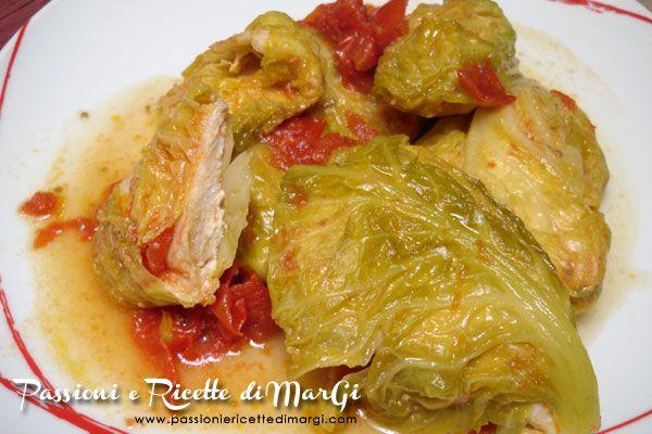 Fagottini di verza con pollo - Ricette con verza di MarGi