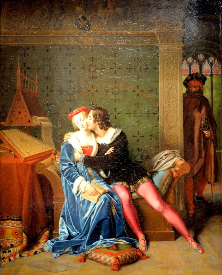 """Marie Philippe Coupin de la Couperie, """"Les amours funestes de Françoise de Rimini et Paolo Malatesta"""", oil on canvas, 1812."""
