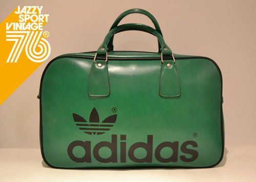 Vintage 1970s Adidas Peter Black Northern Soul Holdall Weekend Sports Bag