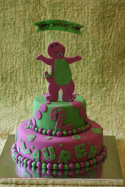 Barney Cake, via Flickr. So glad my kids are long out of the Barney phase!