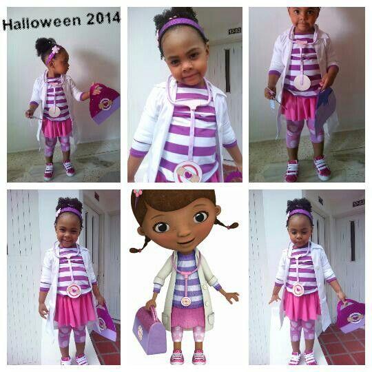 Doctora juguetes... Disfraz Dr. Mcstuffin  Mi hija MiA Thael en su disfraz hecho por mi...