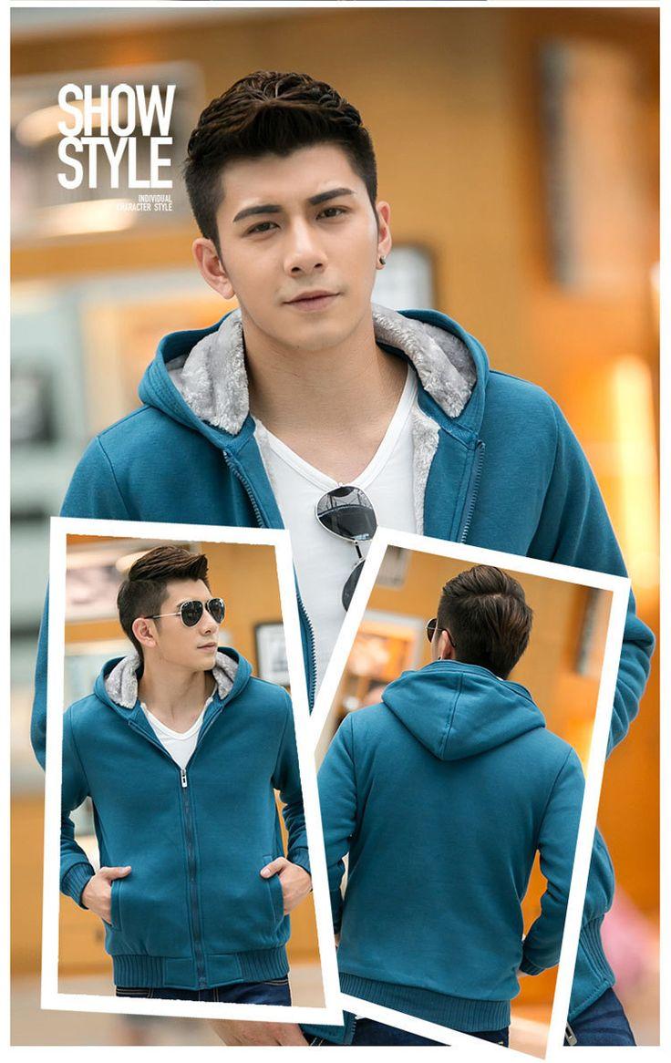 free shipping New desigh high quality Winter Cozy Sweatshirts coat Thick Velvet Zippered men fleece jacket #Affiliate