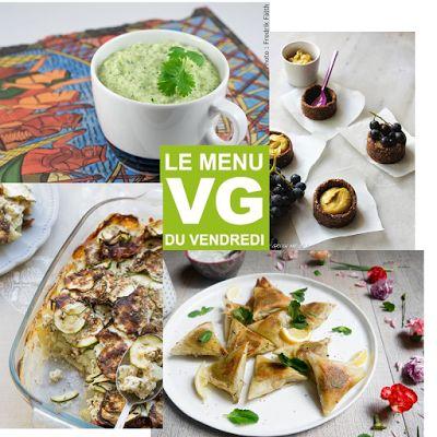 Menus végétaliens: Menu veggie vendredi 1er juillet