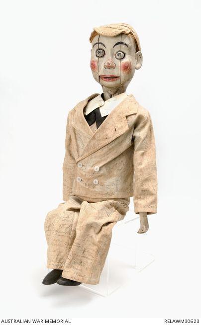 Ventriloquist's Doll : Gunner T A Hussey, 2/10 Field Regiment  http://puppet-master.com - THE VENTRILOQUIST ASSISTANT