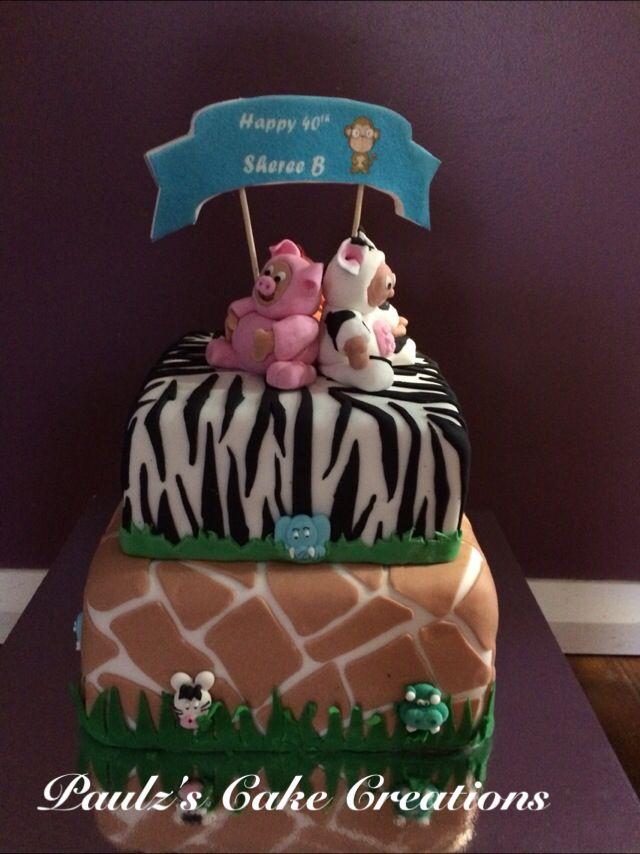 Onesie animal cake