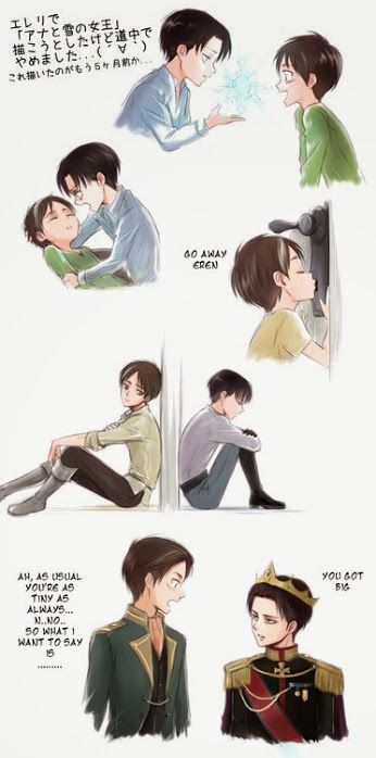 Eren and Levi Frozen by Lena stellina