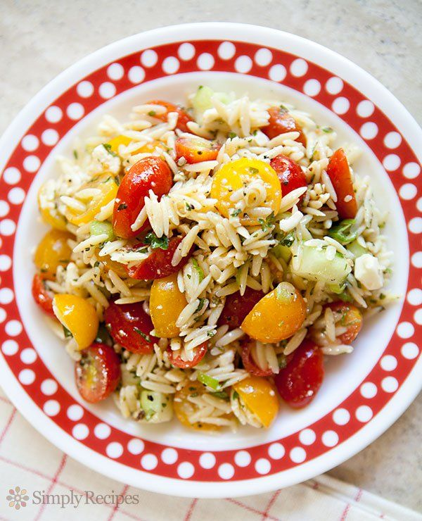 Cherry Tomato Orzo Salad ~ A summer salad of cherry ...
