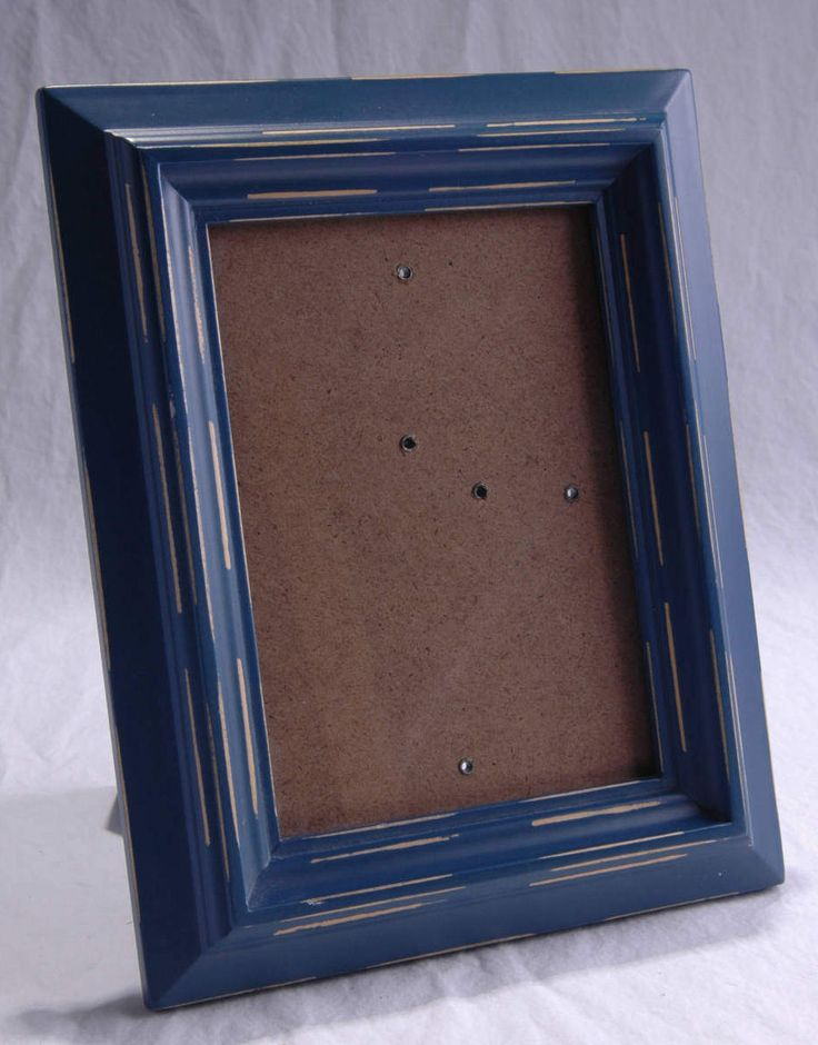 Vintage Blue Picture Frame Rustic Cottage Shabby Chic Home Wedding Table Decor Vertical Horizontal Country Blue Photo Table Wall Frame by SeRepete on Etsy