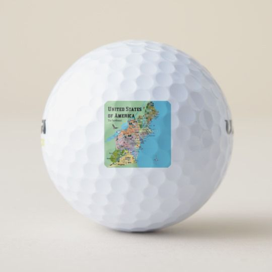 USA Northeast States Map Golf Balls | Sport, Toys & Games ...