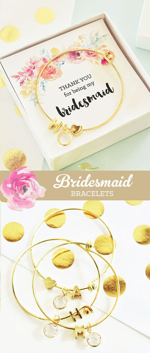 Rustic bridesmaid bracelets make a unique gift for your bridal party - bridesmaid jewelry sets your friends will fall in love with!  by Mod Party