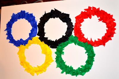 Make an Olympic Poster with the kids for February for 2014 Winter Games The Joys of Home Educating: EZ CRAFT - Make Your Own Olympic Ring Poster