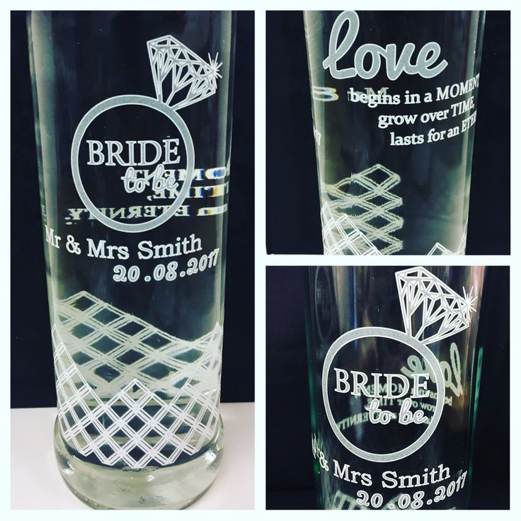 We took a Vodka Bottle and printed a Bride To Be inscription with a loving quote. Finished in a clear coat with a touch of white UV print. Beautiful! Perfect for Hen Nights or customised for a wedding.