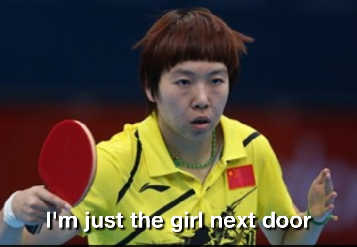 China's women's table tennis poster child.