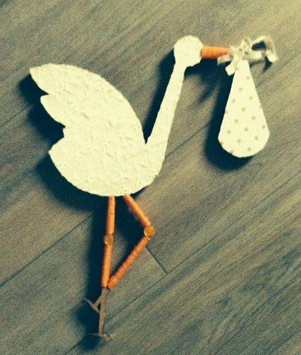 Cora cicogna in cartone stoffa cartoncino e bottoni - Ikea tappeto bottoni ...