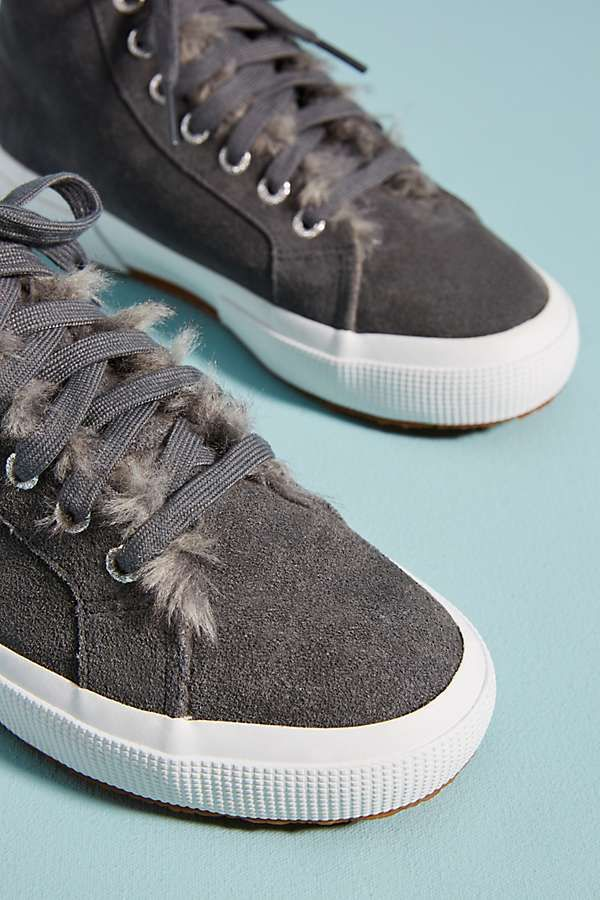 Superga Faux Fur-Lined Sneakers