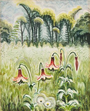 Charles E. Burchfield (1893-1967), Wood Lilies, 1944-62