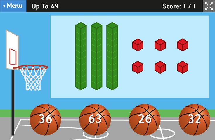 Place Value Basketball - Base Ten Blocks Game for 5 to 8 Year Olds. Great #learning game for children! #maths #math #counting #placevalue