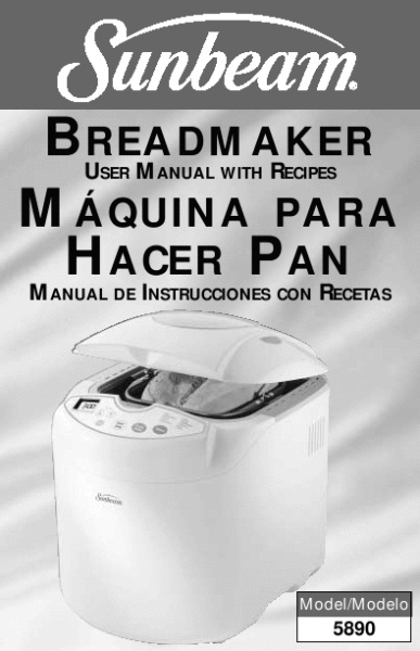 5 star chef bread maker user manual