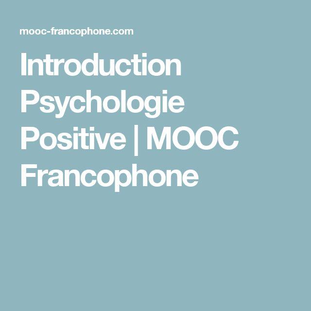 Introduction Psychologie Positive | MOOC Francophone