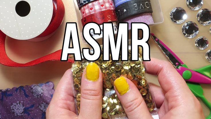 ASMR Craft Supplies - No Talking || Sequins Beads Ribbons Tape Peeling & Tissue Paper Crinkle
