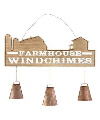 Love this Farmhouse Wind Chime on #zulily! #zulilyfinds