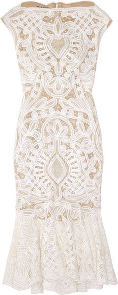 white crochet lace dress alexander mcqueen