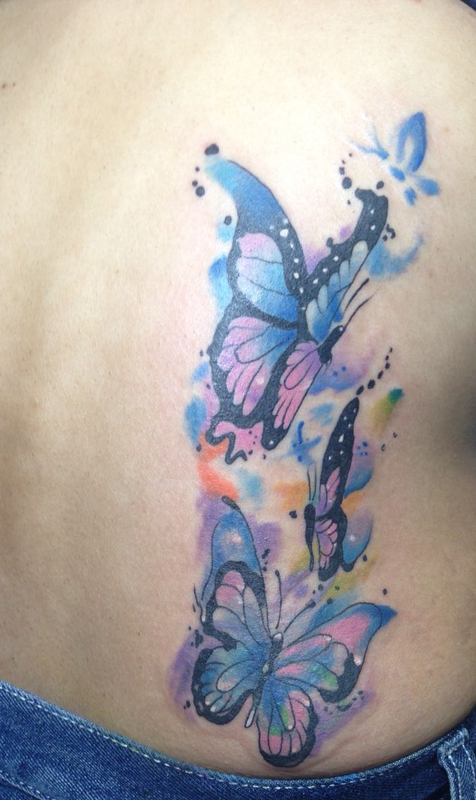 watercolor tattoo butterfly - 676×1136