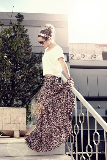 in lust with this skirt and oversized tee