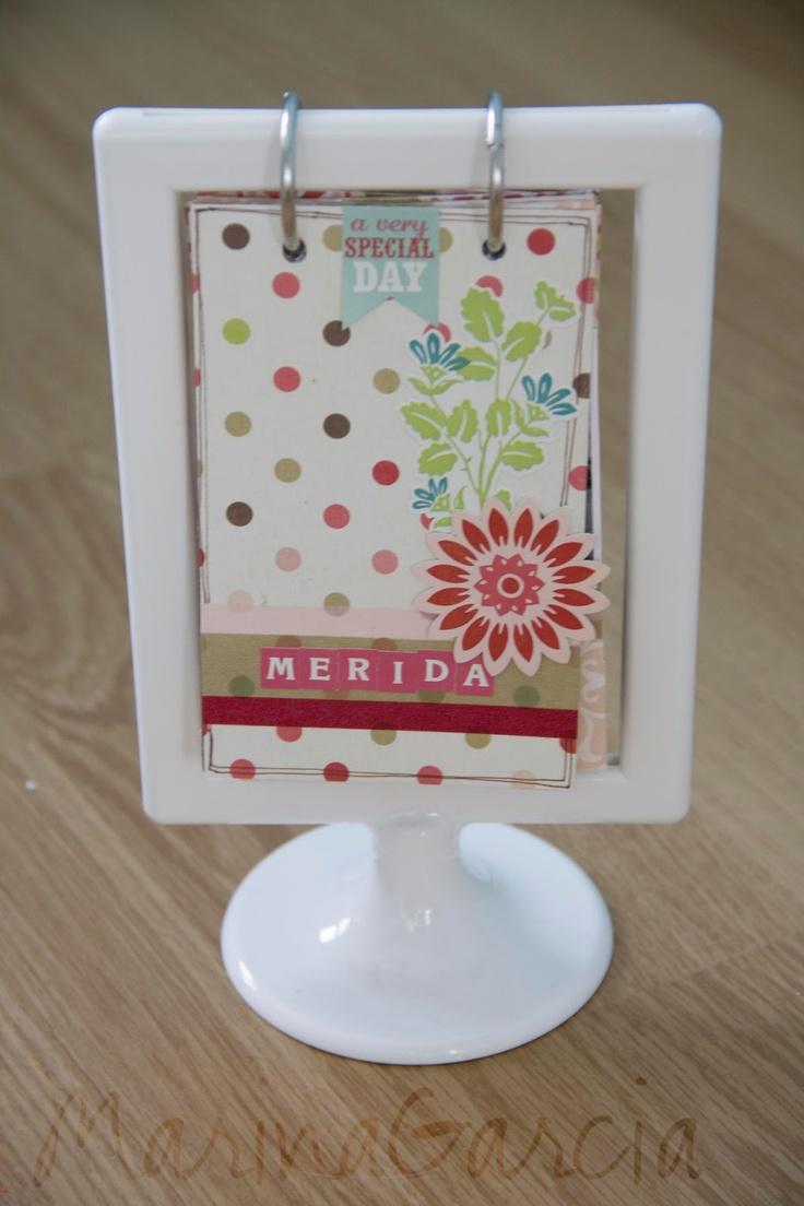 idea mini album con marco de ikea