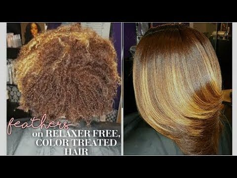 Feathers on Relaxer Free, Color Treated Hair | natricoils ...