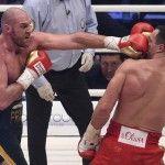 Tyson Fury breaks the 9 year reign of Wladimir Klitschko to become WBA, WBO & IBF heavyweight champion.
