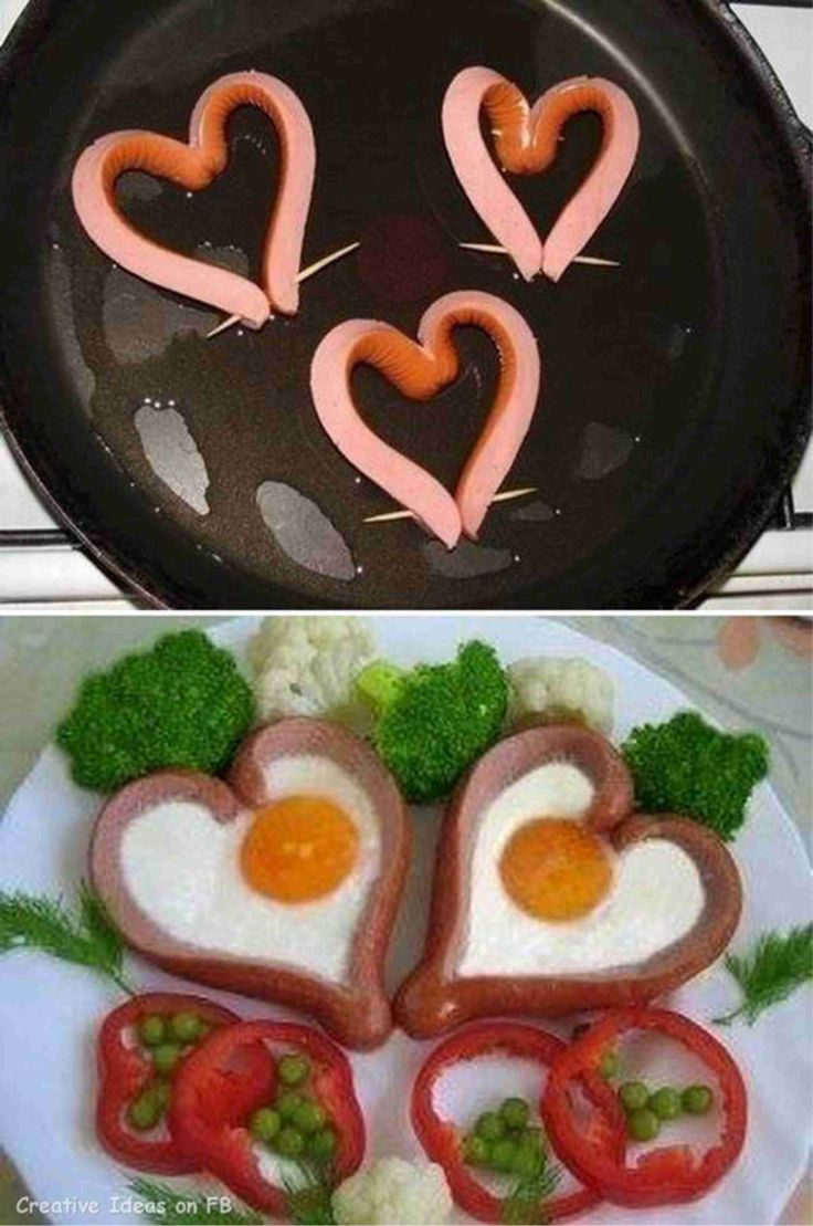 Valentine's Day food art