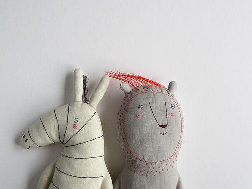 Conrad & Gustavo - how cute are these stuffed animals by MarinaR on flickr!