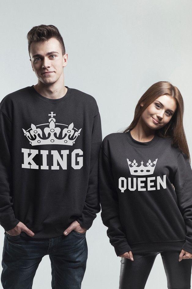 KOMPLET BLUZ OVERSIZE KING QUEEN CROWN - MoodyMood - Koszulki i bluzy