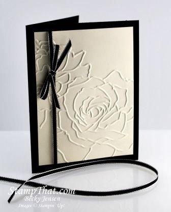Manhanttan rose, black & White. very classy