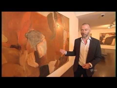 Rare Brett Whiteley works on display London - YouTube
